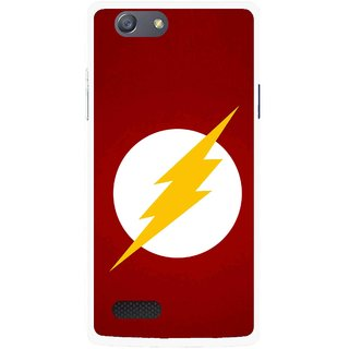 Snooky Printed High Voltage Mobile Back Cover For Oppo Neo 7 - Red