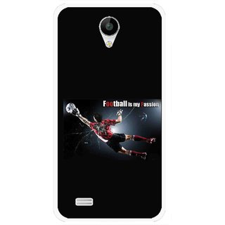 Snooky Printed Football Passion Mobile Back Cover For Vivo Y22 - Black