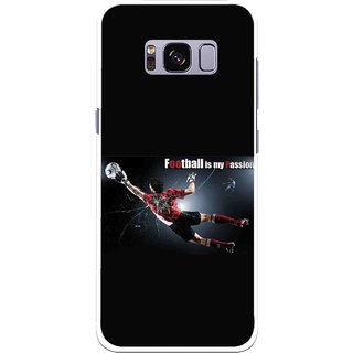 Snooky Printed Football Passion Mobile Back Cover For Samsung Galaxy S8 - Black