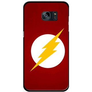 Snooky Printed High Voltage Mobile Back Cover For Samsung Galaxy S7 - Red