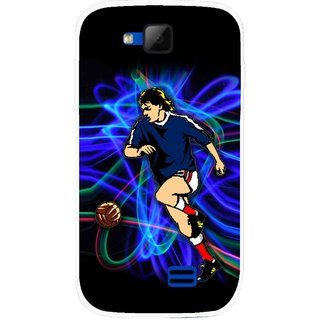 Snooky Printed Football Passion Mobile Back Cover For Micromax Canvas Fun A63 - Multicolour