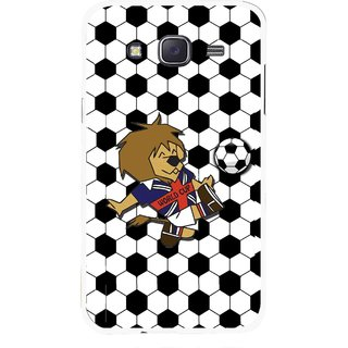 Snooky Printed Football Cup Mobile Back Cover For Samsung Galaxy J7 - Multi