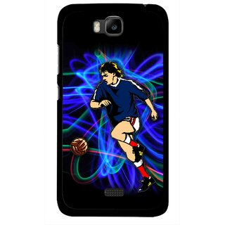 Snooky Printed Football Passion Mobile Back Cover For Huawei Honor Bee - Multicolour