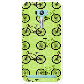 Snooky Printed Cycle Mobile Back Cover For Asus Zenfone Selfie - Green
