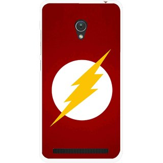 Snooky Printed High Voltage Mobile Back Cover For Asus Zenfone Go ZC451TG - Red