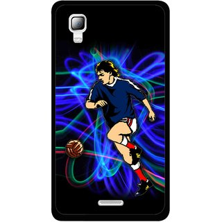 Snooky Printed Football Passion Mobile Back Cover For Micromax Canvas Doodle 3 A102 - Black