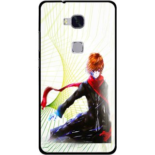 Snooky Printed Stylo Boy Mobile Back Cover For Huawei Honor 5X - Multi