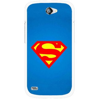 Snooky Printed Super Logo Mobile Back Cover For Gionee Pioneer P3 - Blue
