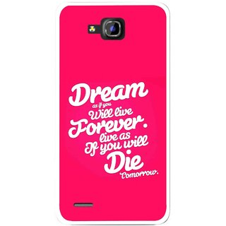 Snooky Printed Live the Life Mobile Back Cover For Huawei Honor 3C - Pink