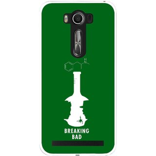 Snooky Printed Breaking Bad Mobile Back Cover For Asus Zenfone 2 Laser ZE500KL - Green