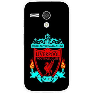 Snooky Printed Football Club Mobile Back Cover For Moto G - Black