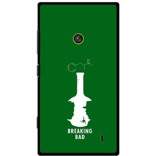 Snooky Printed Breaking Bad Mobile Back Cover For Nokia Lumia 520 - Green