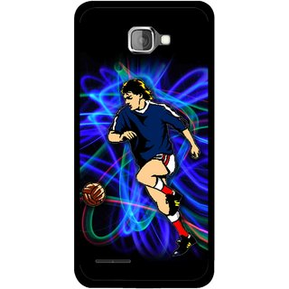 Snooky Printed Football Passion Mobile Back Cover For Micromax Canvas Mad A94 - Black