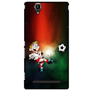 Snooky Printed My Passion Mobile Back Cover For Sony Xperia T2 Ultra - Multicolour