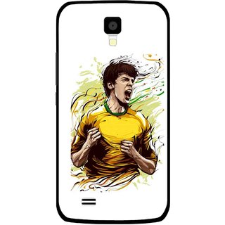 Snooky Printed I Win Mobile Back Cover For Gionee Pioneer P2S - Multicolour