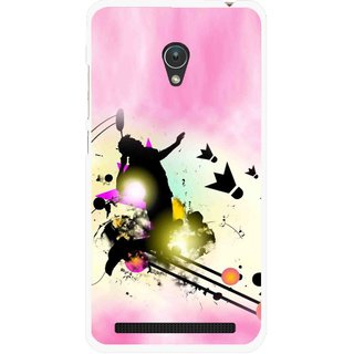Snooky Printed Flying Man Mobile Back Cover For Asus Zenfone Go ZC451TG - Pink