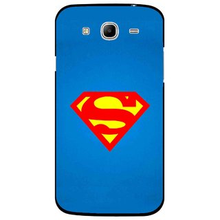 Snooky Printed Super Logo Mobile Back Cover For Samsung Galaxy Mega 5.8 - Blue