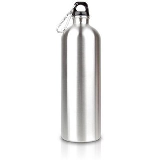 water bottles silver steel