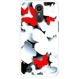 Snooky Printed Butterfly Mobile Back Cover For LG K10 2017 - Multi