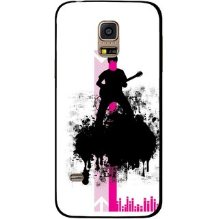 Snooky Printed Music In Air Mobile Back Cover For Samsung Galaxy S5 Mini - Multi