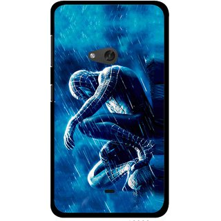 Snooky Printed Blue Hero Mobile Back Cover For Nokia Lumia 625 - Blue
