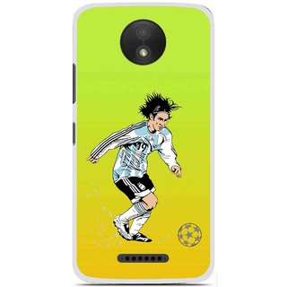Snooky Printed Focus Ball Mobile Back Cover For Motorola Moto C Plus - Multi