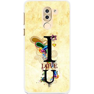 Snooky Printed Love You Mobile Back Cover For Huawei Honor 6X - Yellow