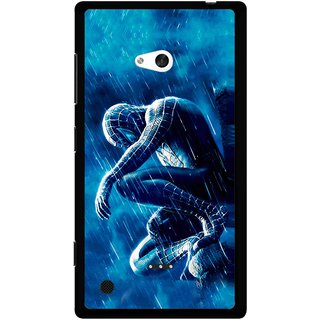 Snooky Printed Blue Hero Mobile Back Cover For Nokia Lumia 720 - Blue
