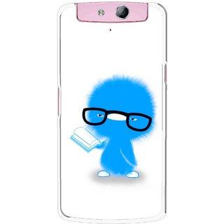 Snooky Printed My Teacher Mobile Back Cover For Oppo N1 Mini - Multicolour