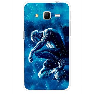 Snooky Printed Blue Hero Mobile Back Cover For Samsung Galaxy Core Prime - Blue