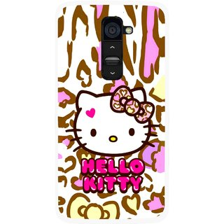 Snooky Printed Cute Kitty Mobile Back Cover For Lg G2 - Multi