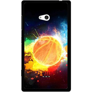 Snooky Printed Paint Globe Mobile Back Cover For Nokia Lumia 720 - Multi