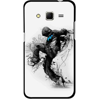 Snooky Printed Enjoying Life Mobile Back Cover For Samsung Galaxy Core Prime - Multicolour