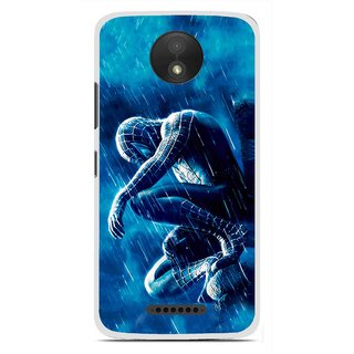 Snooky Printed Blue Hero Mobile Back Cover For Motorola Moto C Plus - Blue
