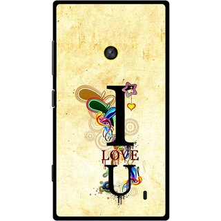 Snooky Printed Love You Mobile Back Cover For Nokia Lumia 520 - Yellow