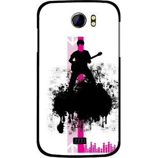 Snooky Printed Music In Air Mobile Back Cover For Micromax Canvas 2 A110 - Multi