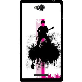 Snooky Printed Music In Air Mobile Back Cover For Sony Xperia C - Multi