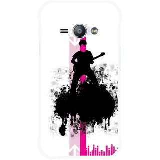 Snooky Printed Music In Air Mobile Back Cover For Samsung Galaxy Ace J1 - Multi