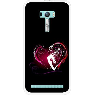 Snooky Printed Lady Heart Mobile Back Cover For Asus Zenfone Selfie - Black