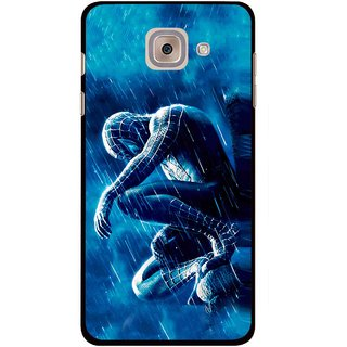 Snooky Printed Blue Hero Mobile Back Cover For Samsung Galaxy J7 Max - Blue
