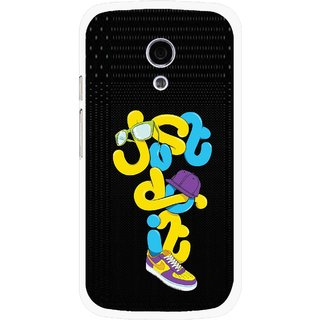 Snooky Printed Just Do it Mobile Back Cover For Moto G2 - Multi