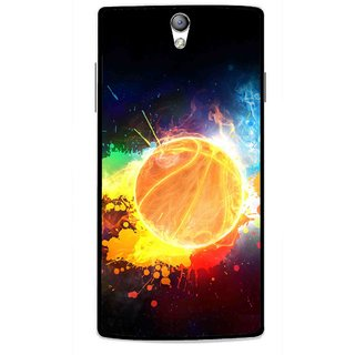 Snooky Printed Paint Globe Mobile Back Cover For Oppo Find 5 Mini - Multi