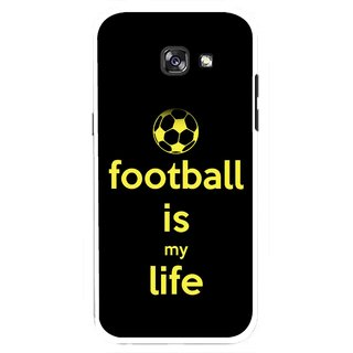 Snooky Printed Football Is Life Mobile Back Cover For Samsung Galaxy A7 (2017) - Multicolour