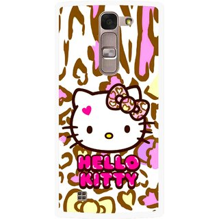 Snooky Printed Cute Kitty Mobile Back Cover For Lg Spirit - Multi