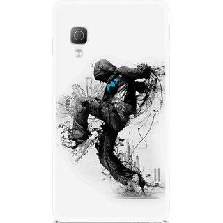 Snooky Printed Enjoying Life Mobile Back Cover For Lg Optimus L5II E455 - Multicolour