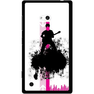 Snooky Printed Music In Air Mobile Back Cover For Nokia Lumia 720 - Multi