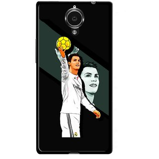Snooky Printed I Win Mobile Back Cover For Gionee Elife E7 - Multicolour