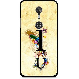 Snooky Printed Love You Mobile Back Cover For Gionee A1 - Yellow