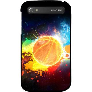 Snooky Printed Paint Globe Mobile Back Cover For Blackberry Classic - Multi