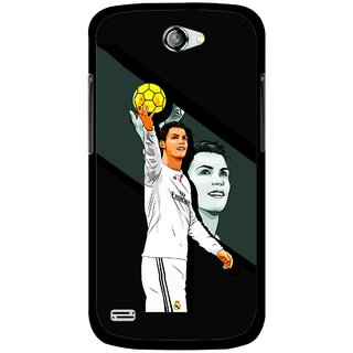 Snooky Printed I Win Mobile Back Cover For Gionee Pioneer P3 - Multicolour